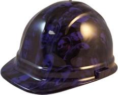 Hydrographic CAP STYLE Hard Hat-Ratchet Suspension - Purple Zombie - Oblique View