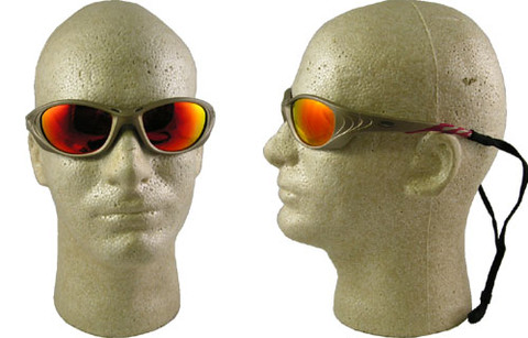 AO Safety #11650 Fuel II Safety Eyewear Sand Frame w/ Red Mirror Lens
