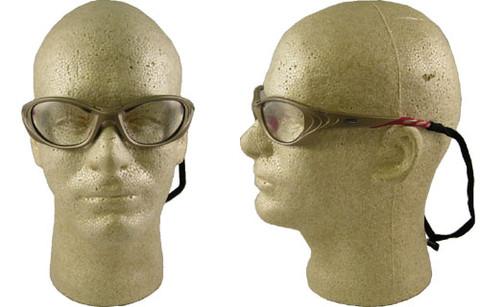 AO Safety #11651 Fuel II Safety Eyewear Sand Frame w/ Fog Free Clear Lens