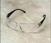 Erb Boas Wraparounds Safety Glasses Smoke Frame - Clear Lens