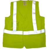 Arc Flame Resistant Lime Class 2 Vest with Silver stripes - Velcro Front