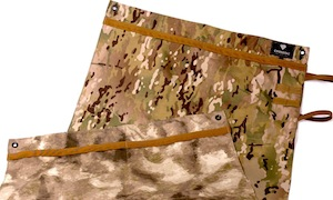 Two camo patterns on the Recon shooting mat allows users to match the terrain.