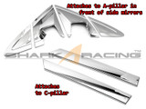 2011-2014 Picanto Chrome Pillar Molding Kit