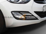 2011-2013 Elantra Black Fog Light Molding Kit