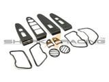 2011-2014 Sportage Carbon Fiber Style Interior Overlay Kit