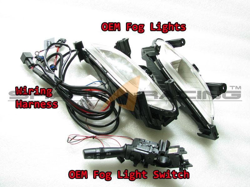 2011 2013 elantra factory fog light kit  front bumper fog light clear