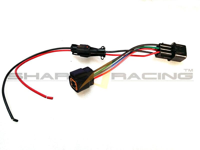 03 06 Tiburon Headlight Wiring Harness Adapter Set Shark Racing