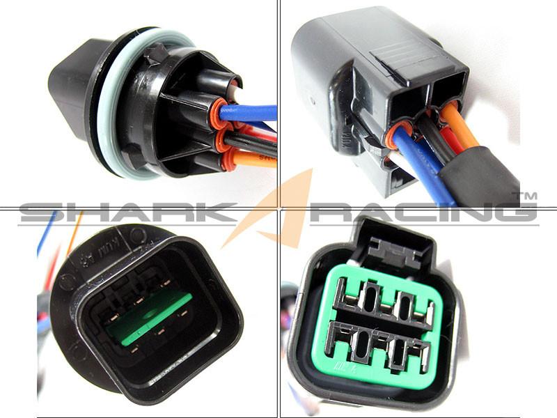 Hyundai/Kia Headlight Wiring Harness Adapter Set - 6 Pin on