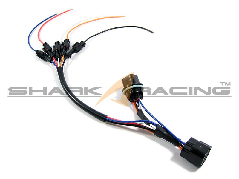 hyundai kia headlight wiring harness adapter set 6 pin shark racing rh sharkracing com hyundai accent wiring harness hyundai wiring harness price