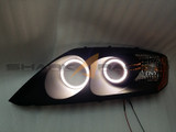 03-06 Tiburon F/L V5 Angel Eye Headlights