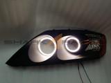 03-06 Tiburon F/L V5 Angel Eye Headlights