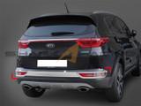 2017+ Sportage Rear Bumper Chrome Molding Set