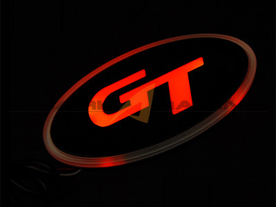 Gt Logo Led Emblem Shark Racing