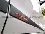 2011-2016 Elantra sedan Black Lower Door Molding Set