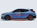 2019+ Veloster N Factory OEM Side Skirts