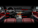 2018+ Stinger CF-Style Interior Decal Set - 23 pcs