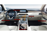 2020+ Palisade CF-Style Interior Decal Set - 12 pcs
