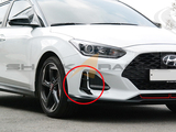 2019+ Veloster Front Bumper Canard Wing Set