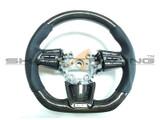 2018-2021 Stinger Genuine Carbon Fiber Flat-Bottom Steering Wheel