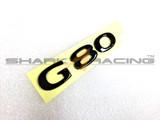 Factory Black G80 Lettering Emblem
