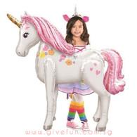 Jumbo Magical Pink Unicorn Airwalker Balloon (46inch)