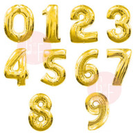 "16"" Small Number Foil Balloon - Gold"