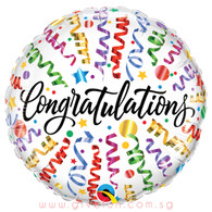 Congratulations Streamers Foil Balloon (18inch)