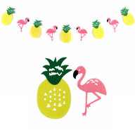 Pineapple Flamingo Felt Garland (2.5meter)