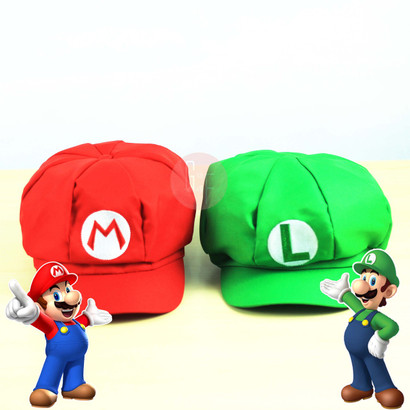 Super Mario Bros themed Hat, available in Mario (Red) and Luigi (Green). Great to be used as photobooth props too in all occasions, i.e Birthday Parties, Wedding, ROM, Anniversaries, Baby Fullmoon Party and etc.