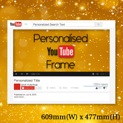 Personalized YouTube Frame - Small size - Give Fun