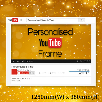 Personalized Youtube Frame Giant Size Give Fun
