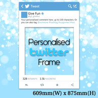 Personalised Twitter Frame - Medium Size