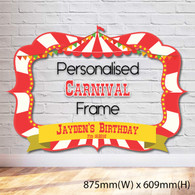 Carnival/Circus Themed Photobooth Frame - Medium
