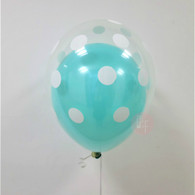 "12"" Polka Dots Balloon in a Balloon - Metallic Color"