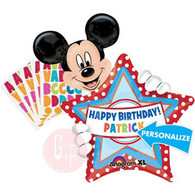 Mickey Mouse Birthday Personalized Super Shape Foil Balloon