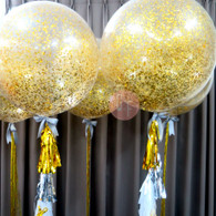 36'' Metallic Gold Confetti Balloon