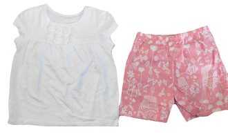 Girls Short Sleeve Pj Set - £3.50