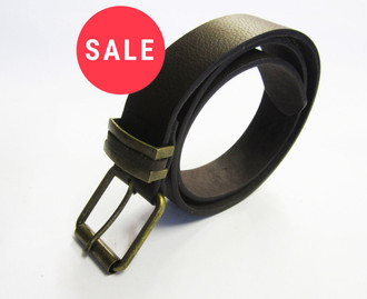 Men's Brown Leather Belt - WAS £1.50   NOW £1.00