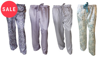 Ex Major High Street Ladies Satin PJ Bottoms  - WAS £2.00   NOW £1.00