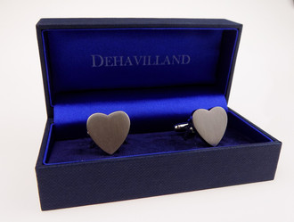 Heart Shaped Pair of Cuff Links in Gift Box - £2.00
