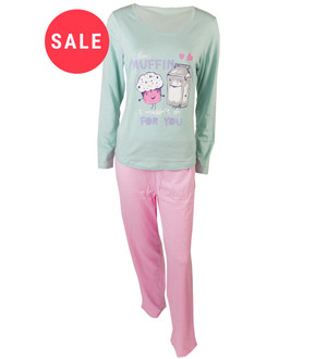 Ex major High Street Ladies Long Sleeve Pyjama Set  - WAS £4.95   NOW £3.50