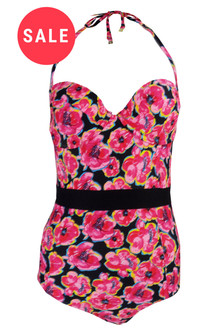 Ex T-p S-op Floral Swimsuit - WAS £4.95   NOW £3.00