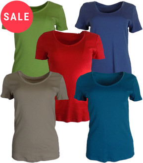 Ex M-S Ladies  Short Sleeve V Neck Top - WAS £2.00   NOW £1.50