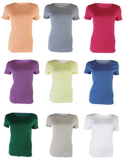 NEW STOCK Ex M-S Ladies  Short Sleeve Crew Neck Top - £2.00