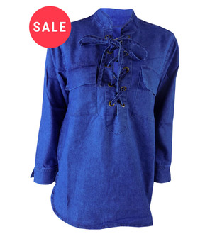 Ex B-rshka Ladies Denim Tunic - WAS £4.95   NOW £2.50