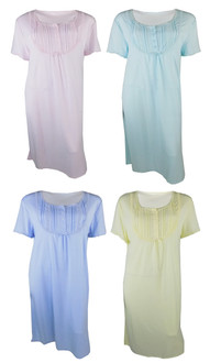 Ex Major High Street Ladies Short Sleeve  Nightdress - WAS £4.75   NOW £3.00