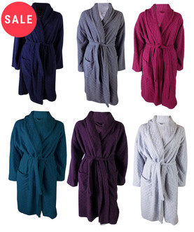 Ex M-S Ladies Embossed Dressing Gown - WAS £7.50   NOW £5.00