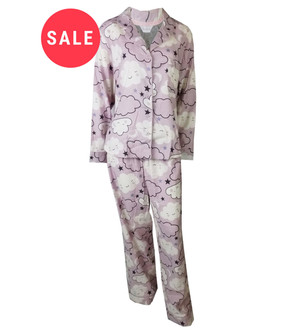Ex M-S Ladies Cloud Pyjama Set - WAS £5.95   NOW £4.00