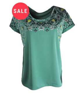 Ex M-S Ladies Satin Printed Top - WAS £3.50   NOW £2.00