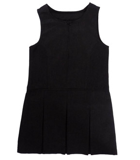 Ex Major Highstreet Girls Grey Pinafore School Dress   - £2.00